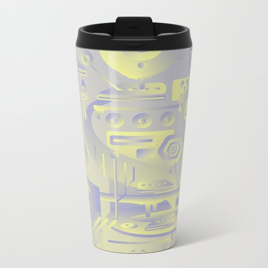 Geometromorphic Future Metal Travel Mug