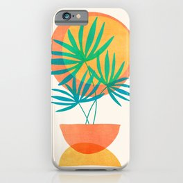 Summer Eclipse / Mid Century Abstract Shapes iPhone Case