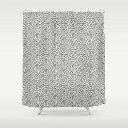 Going Round and Round - Stone Grey Shower Curtain