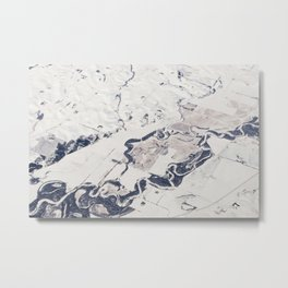marbleized america Metal Print