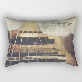 Therapy Session Guitar Rectangular Pillow