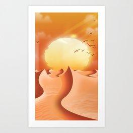 Arid Desert Landscape Art Print