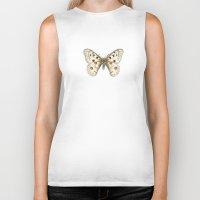 apollo Biker Tanks featuring Butterflies: Apollo by Yeesan Loh