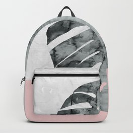 Watercolor tropical leaf VII Backpack