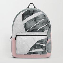 Watercolor tropical leaf VII Backpack