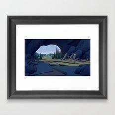 C ∆ V E Framed Art Print