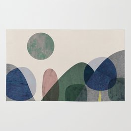 Trees and mountains Rug