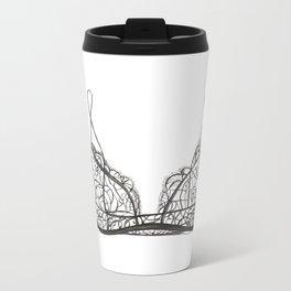 Black bralette Metal Travel Mug