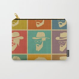colorful Icons man in a headdress hat Carry-All Pouch