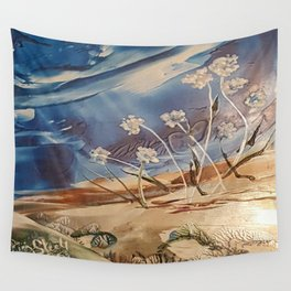 Spring White flowers Wall Tapestry