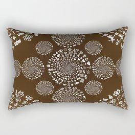 Coffee Lovers Mandala Rectangular Pillow