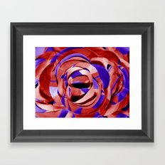 Red and Purple Painted Paper Flower Framed Art Print