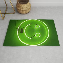 GREEN SMILE NEON SIGN Rug