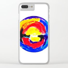 Colourful Dot Clear iPhone Case