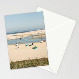 Beach Lagoa de Albufeira Portugal Stationery Cards