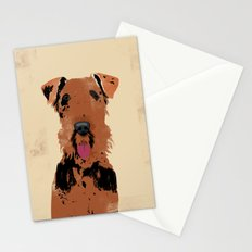 Airedale Terrier Dog Art Stationery Cards