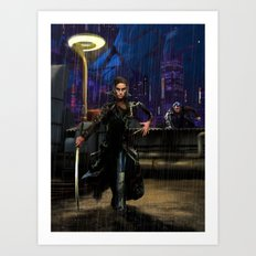 Cyber-Ninja  Art Print