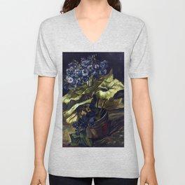 Vincent van Gogh Cineraria Unisex V-Neck