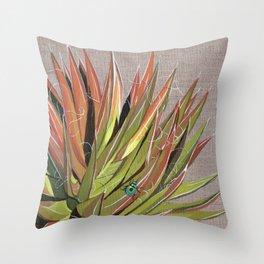 Yucca filifera with beetle Throw Pillow