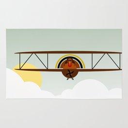 The Getaway: Biplane Rug