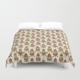 Flight of the Buzzy Bees Duvet Cover