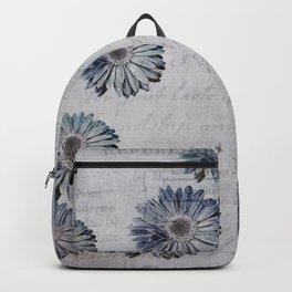 blue daisies par avion Backpack