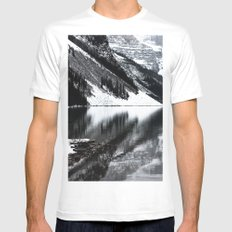Water Reflections II White MEDIUM Mens Fitted Tee