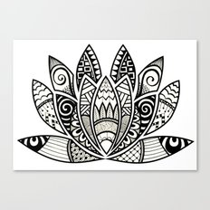 Tangled Lotus Canvas Print