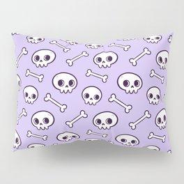 Cute Skulls // Purple Pillow Sham