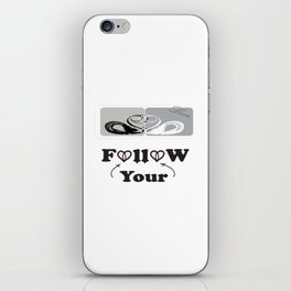 Follow-your-heart , love ducks, duck, quotes , Christmas-gift , Society6. iPhone Skin