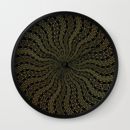 Golden Oracle | Ornamentalism Wall Clock