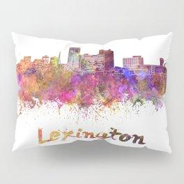 Lexington skyline in watercolor Pillow Sham