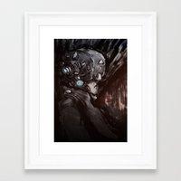 cyberpunk Framed Art Prints featuring Cyberpunk 001  by Thecansone