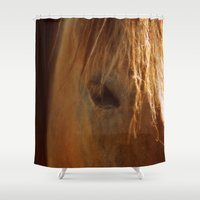 the xx Shower Curtains featuring Horse xx by  Agostino Lo Coco