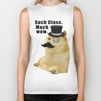 doge Biker Tanks featuring Classy Doge by Tayler Smith