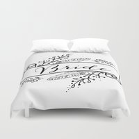 princess bride Duvet Covers featuring Bride by Alexis Wright