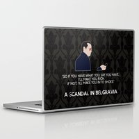 scandal Laptop & iPad Skins featuring A Scandal in Belgravia - Jim Moriarty by MacGuffin Designs