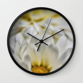 White flowers detail Wall Clock