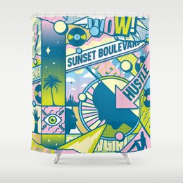 Sunset Boulevard Hustle Shower Curtain