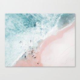 Ocean Pink Swirl Canvas Print