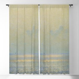 'Calma,' Rays of Sun reflecting on calm ocean waters seascape portrait version painting by Giorgio Belloni Blackout Curtain