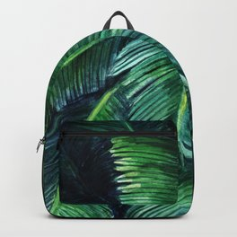 Watercolor tropical print Backpack