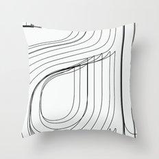 Helvetica Condensed 002 Throw Pillow
