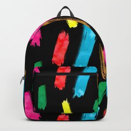 Bold and Colorful Art Strokes Backpack