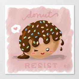 Donut Resist Canvas Print