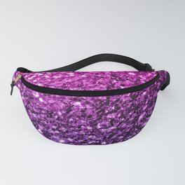 Purple Pink Ombre glitter sparkles Fanny Pack