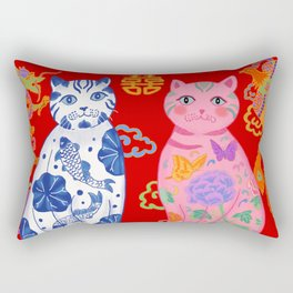 Double Happiness: When Ming Meets Qing Rectangular Pillow