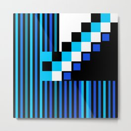 Playing with Colors | Shapes | Black and White | I Feel Blue Metal Print