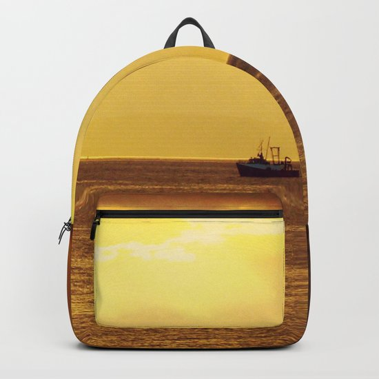 Going Fishing at sunset Backpack
