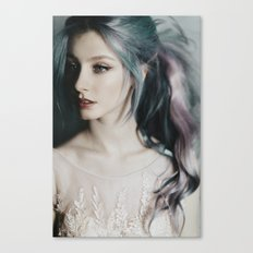Pastel hair Canvas Print